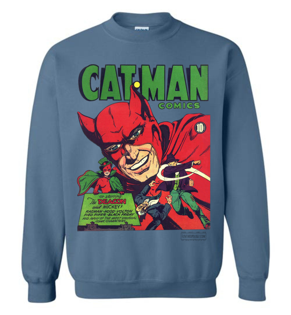 Cat-Man No.10 Sweatshirt (Unisex, Light Colors)