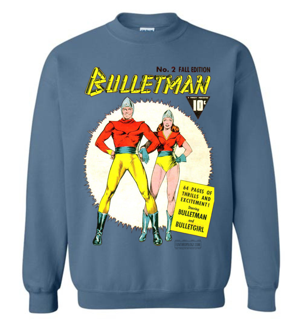 Bulletman No.2 Sweatshirt (Unisex, Light Colors)