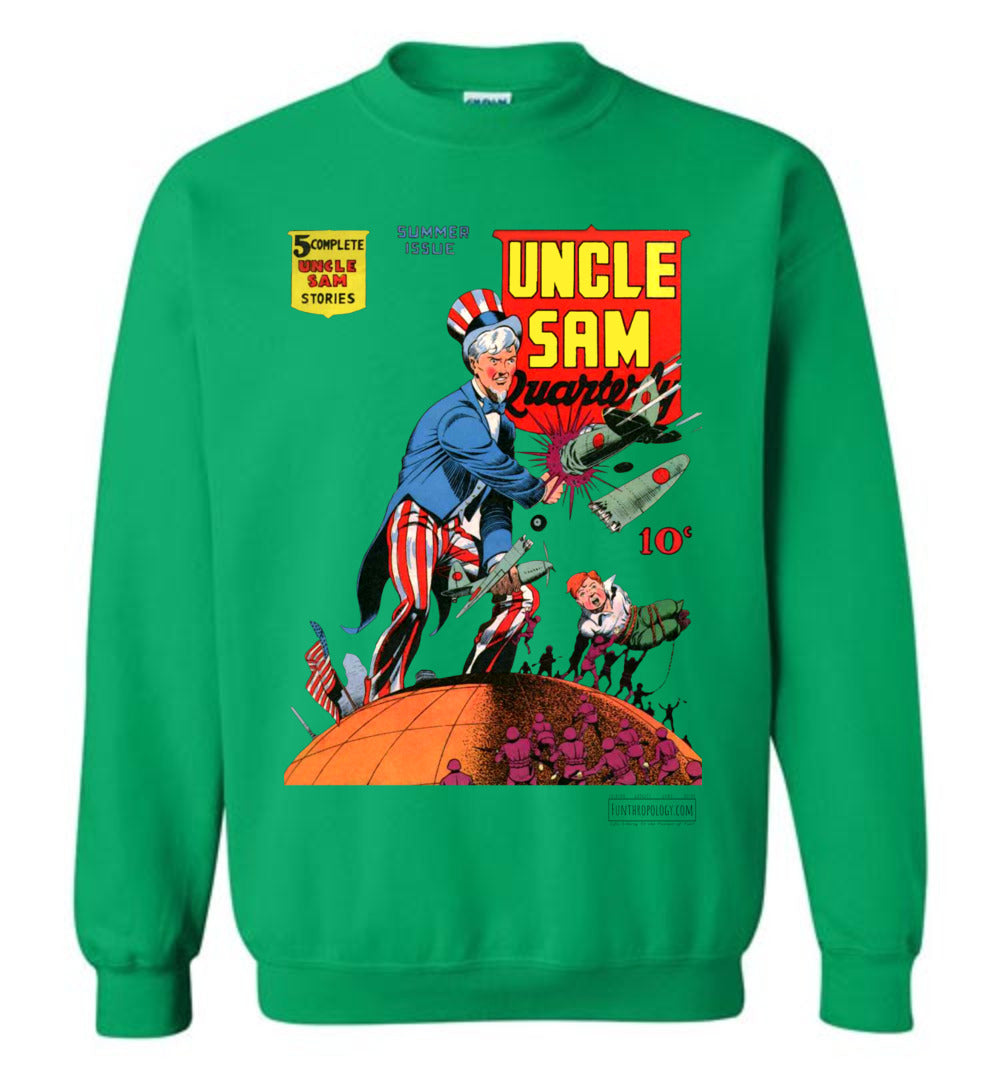 Uncle Sam Quarterly No.3 Sweatshirt (Unisex, Light Colors)