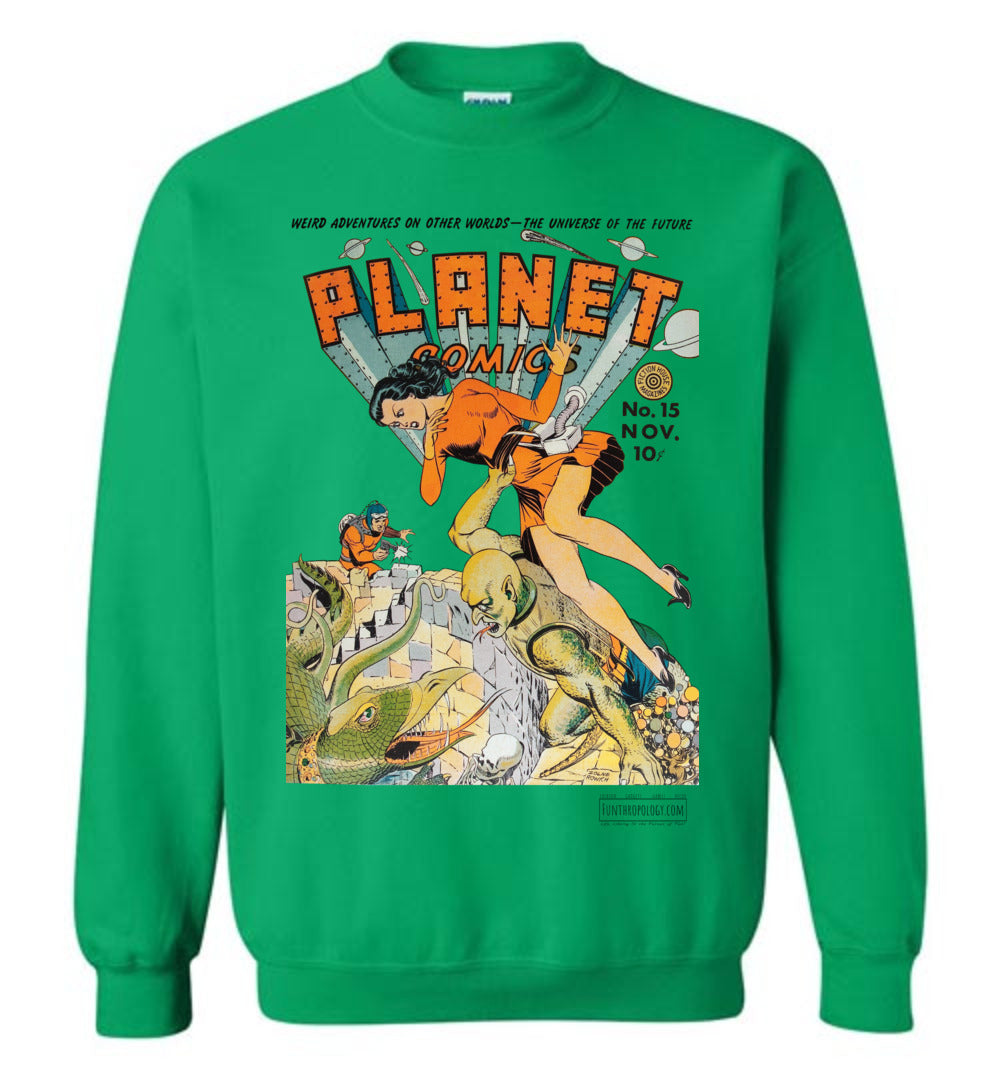 Planet Comics No.15 Sweatshirt (Unisex, Light Colors)