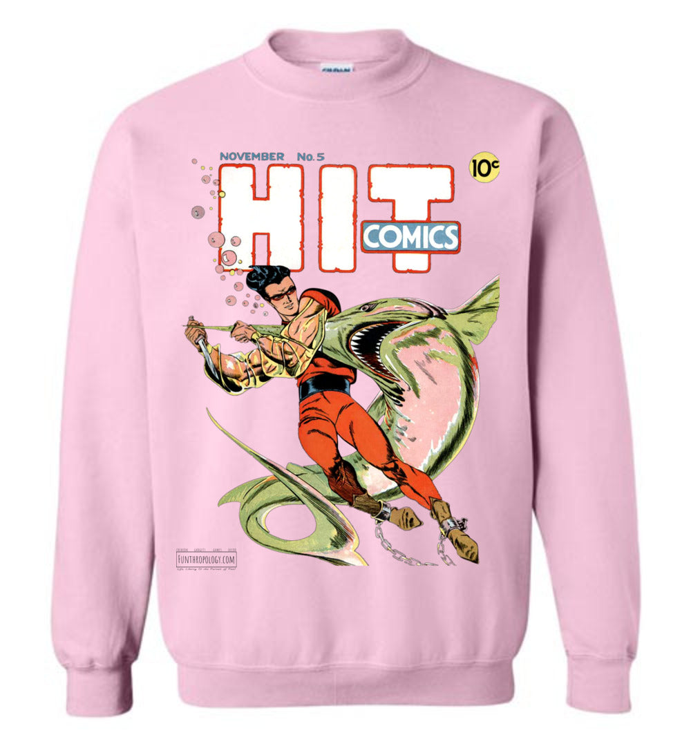 Hit Comics No.5 Sweatshirt (Unisex, Light Colors)