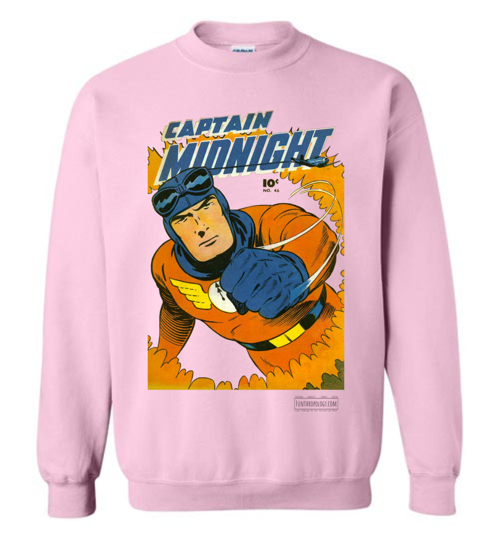 Captain Midnight No.46 Sweatshirt (Unisex, Light Colors)