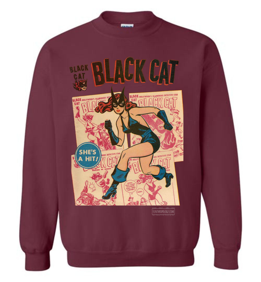 Black Cat No.6 Sweatshirt (Youth, Dark Colors)