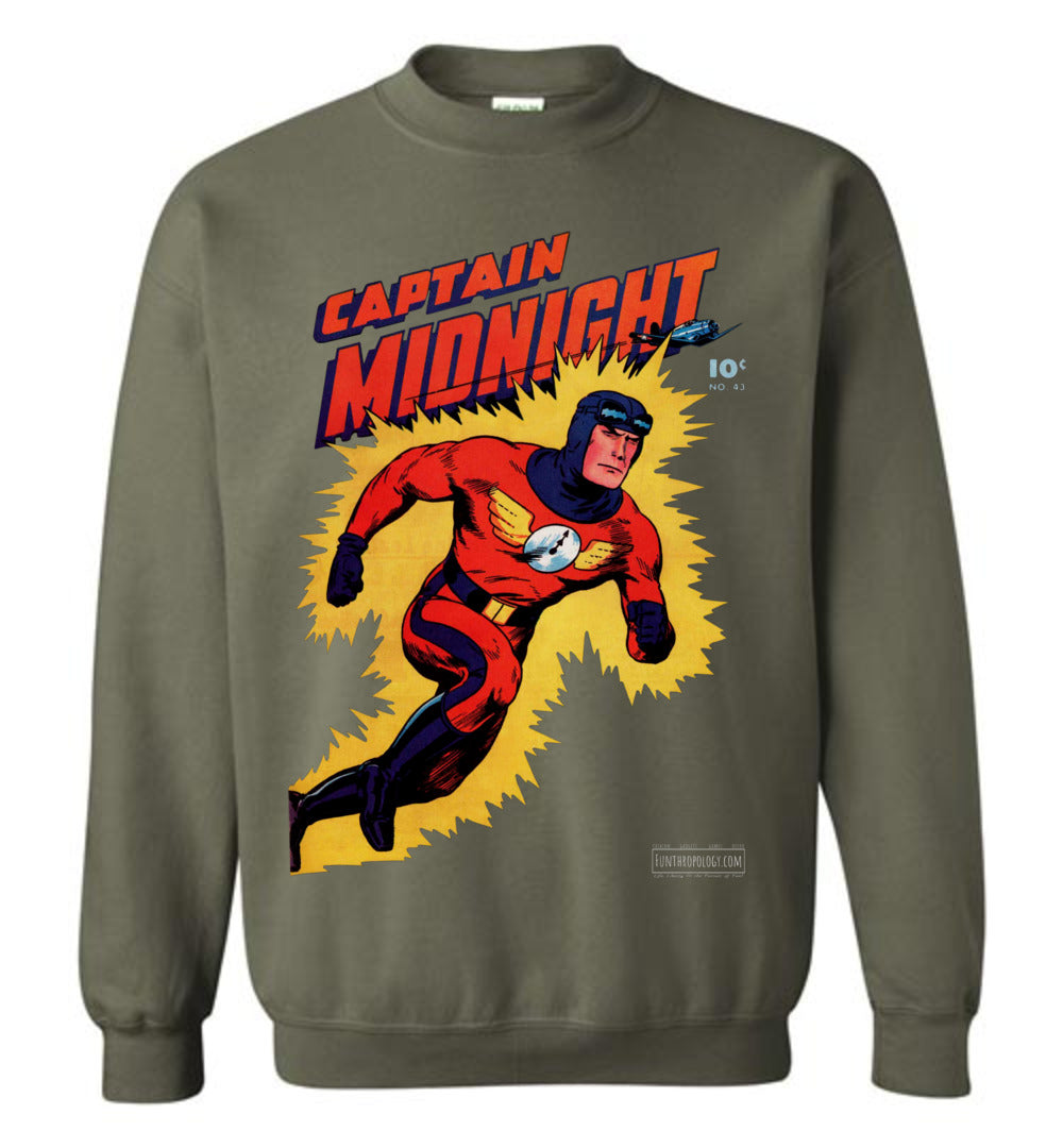 Captain Midnight No.43 Sweatshirt (Unisex, Dark Colors)
