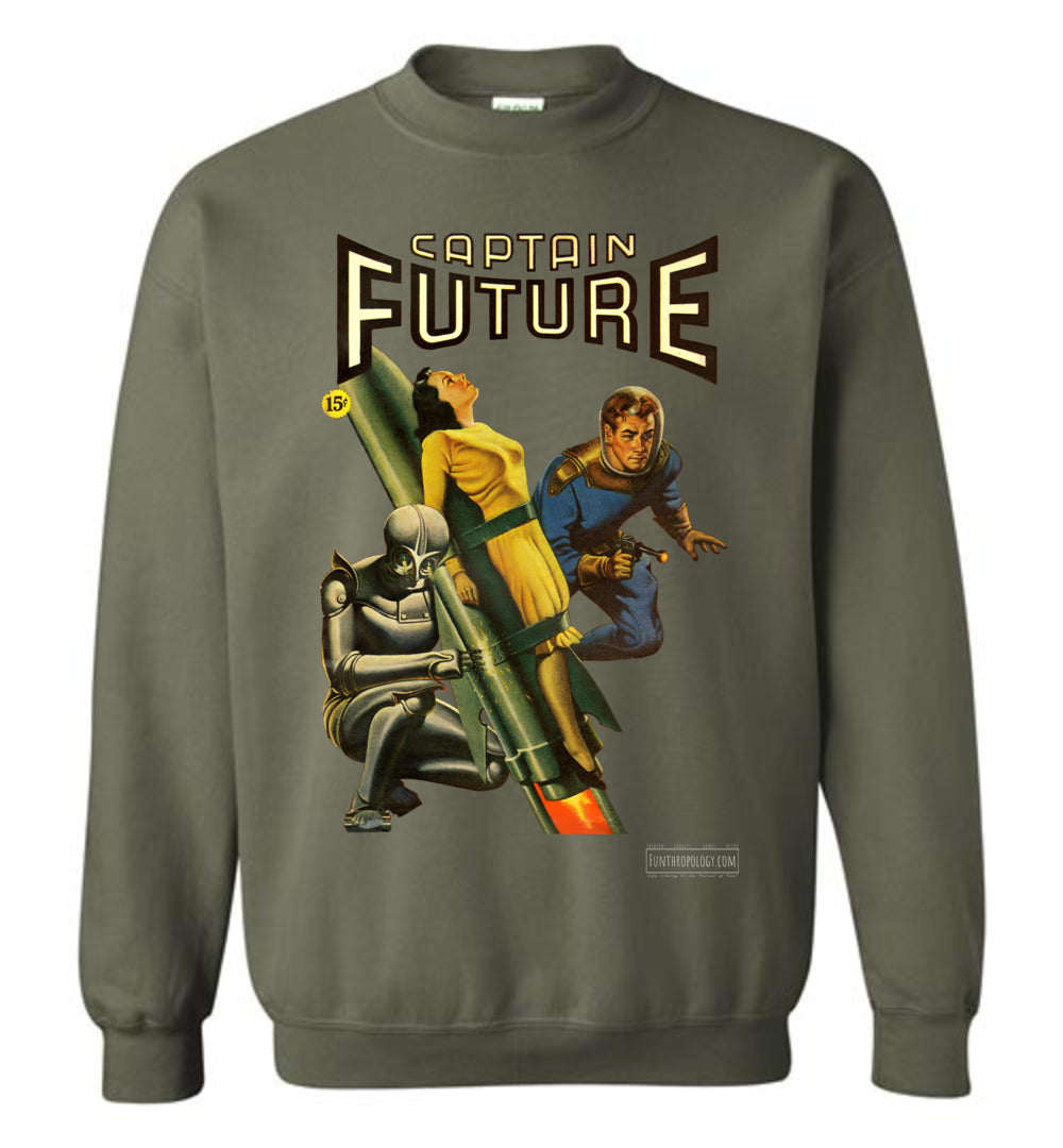 Captain Future No.3 Sweatshirt (Unisex, Dark Colors)