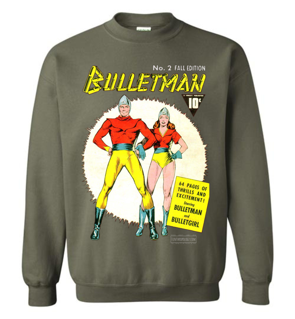 Bulletman No.2 Sweatshirt (Unisex, Dark Colors)