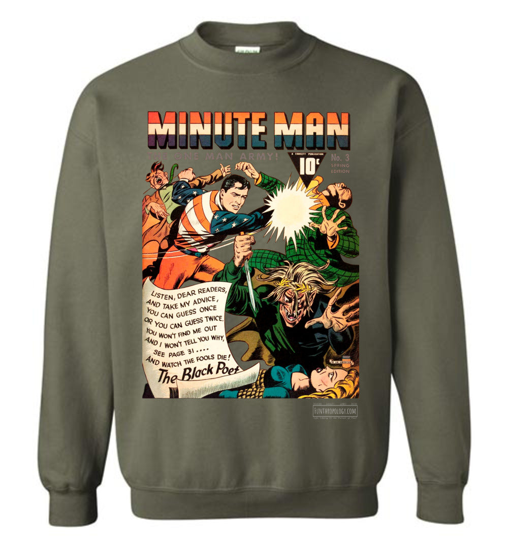 Minute Man No.3 Sweatshirt (Unisex, Dark Colors)