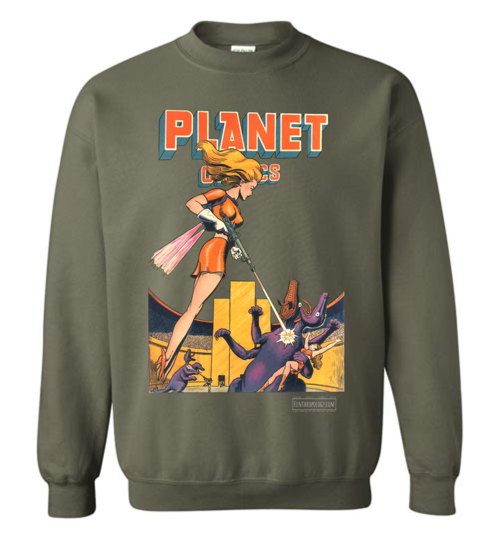 Planet Comics No.38 Sweatshirt (Unisex, Dark Colors)
