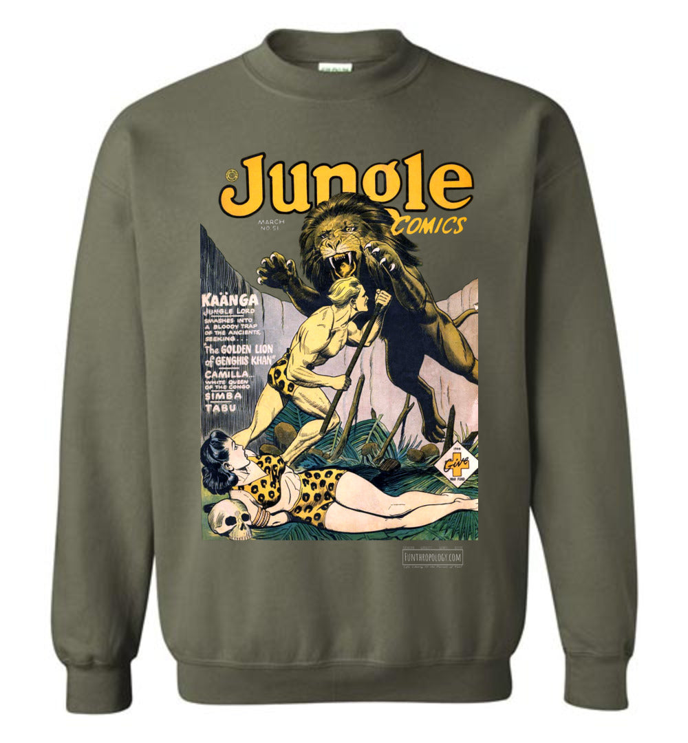 Jungle Comics No.51 Sweatshirt (Unisex, Dark Colors)