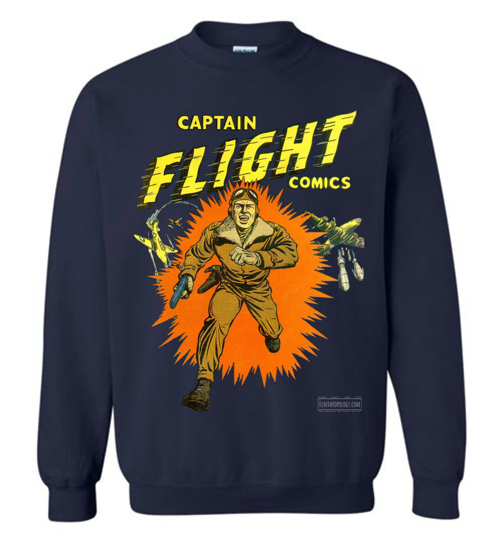Captain Flight No.2 Sweatshirt (Unisex, Dark Colors)
