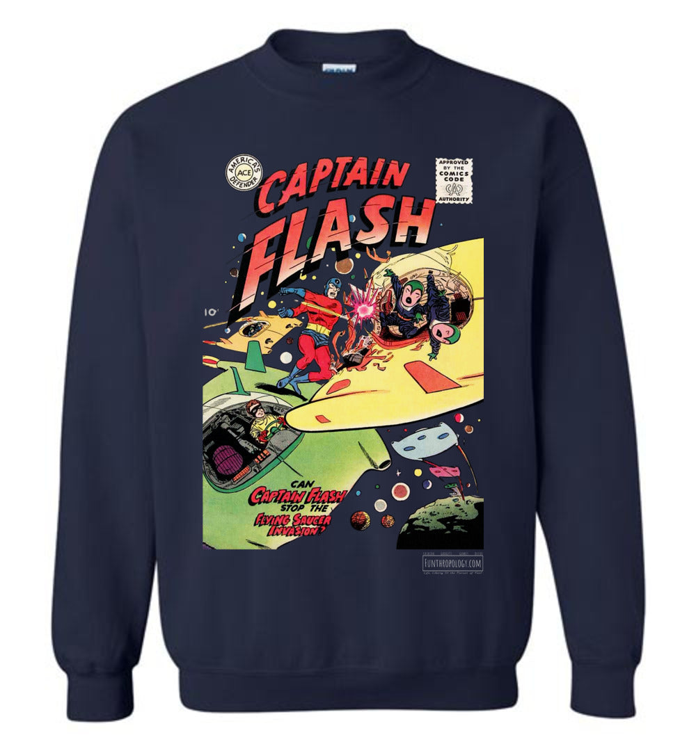 Captain Flash No.4 Sweatshirt (Unisex, Dark Colors)