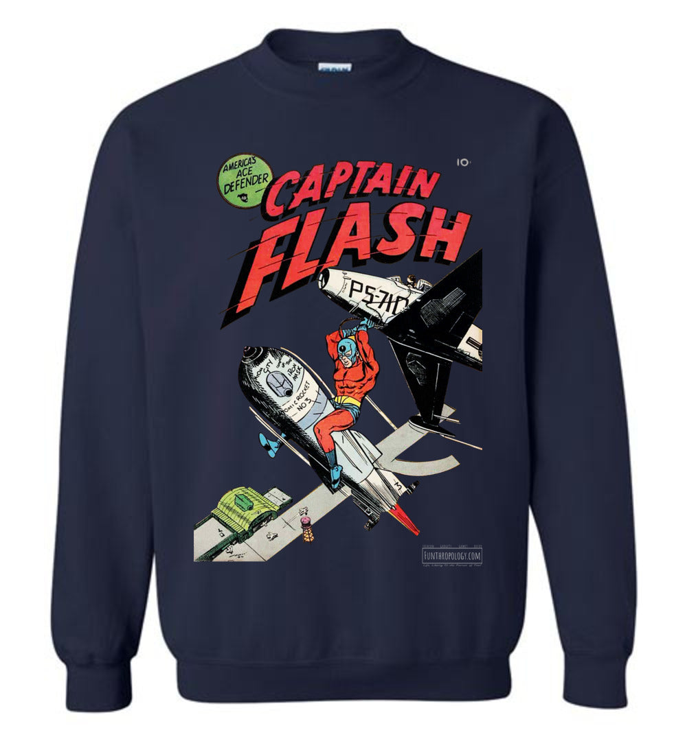 Captain Flash No.1 Sweatshirt (Unisex, Dark Colors)
