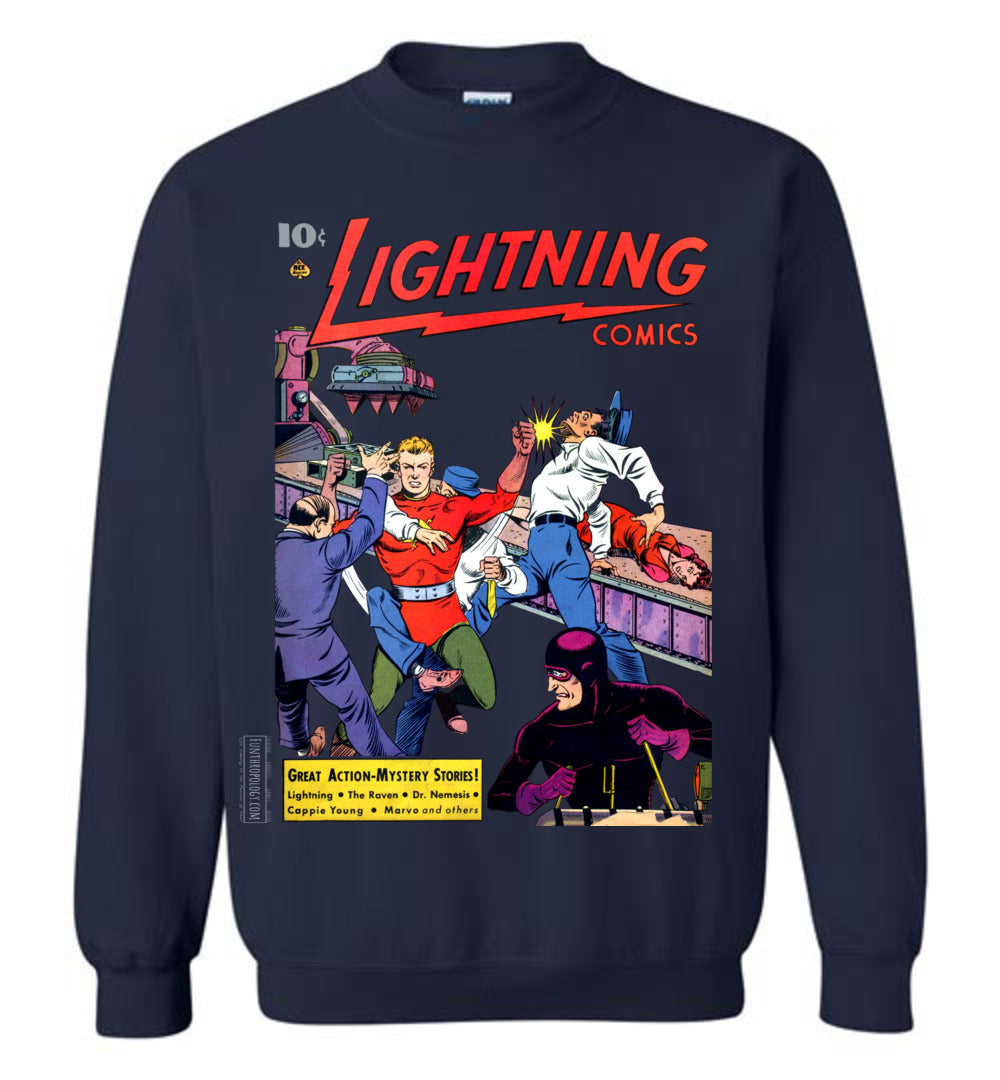 Lightning Comics No.2.6 Sweatshirt (Unisex, Dark Colors)