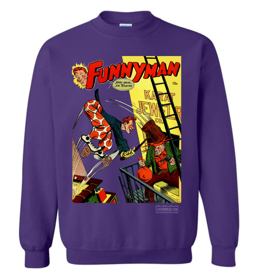 Funnyman No.3 Sweatshirt (Unisex, Dark Colors)