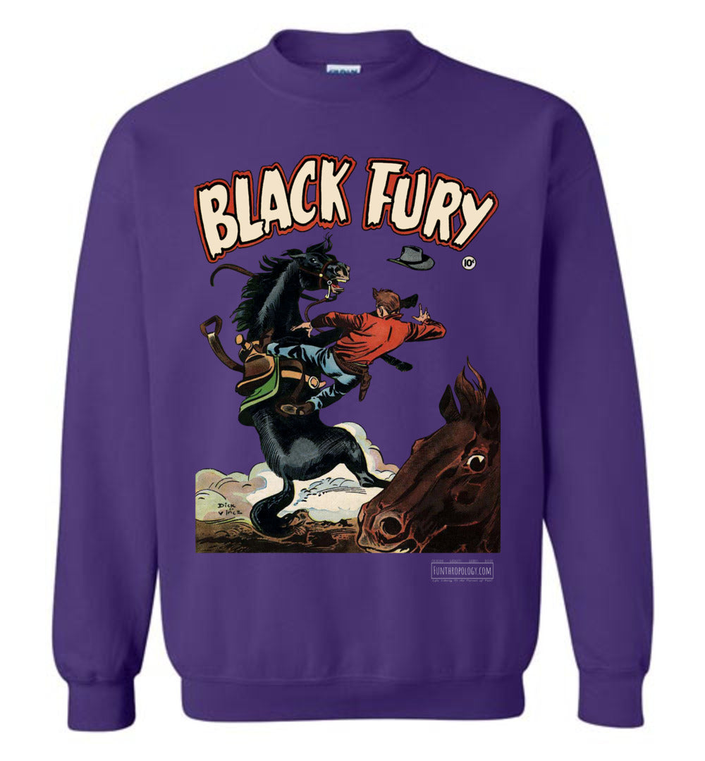Black Fury No.4 Sweatshirt (Unisex, Dark Colors)