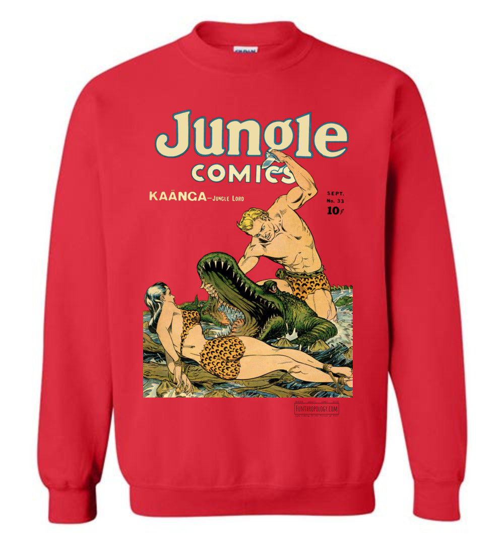 Jungle Comics No.33 Sweatshirt (Unisex, Light Colors)
