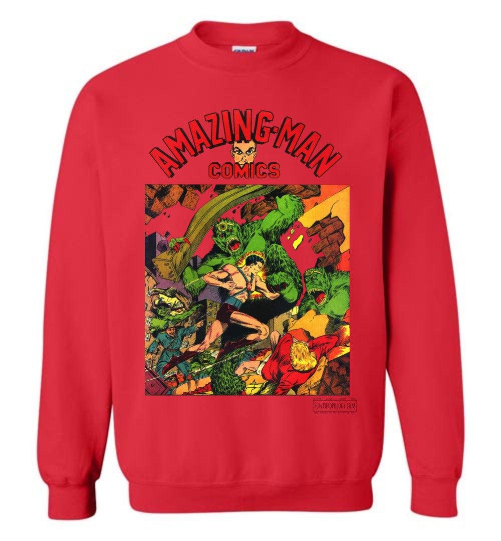Amazing-Man Comics No.22 Sweatshirt (Youth, Light Colors)