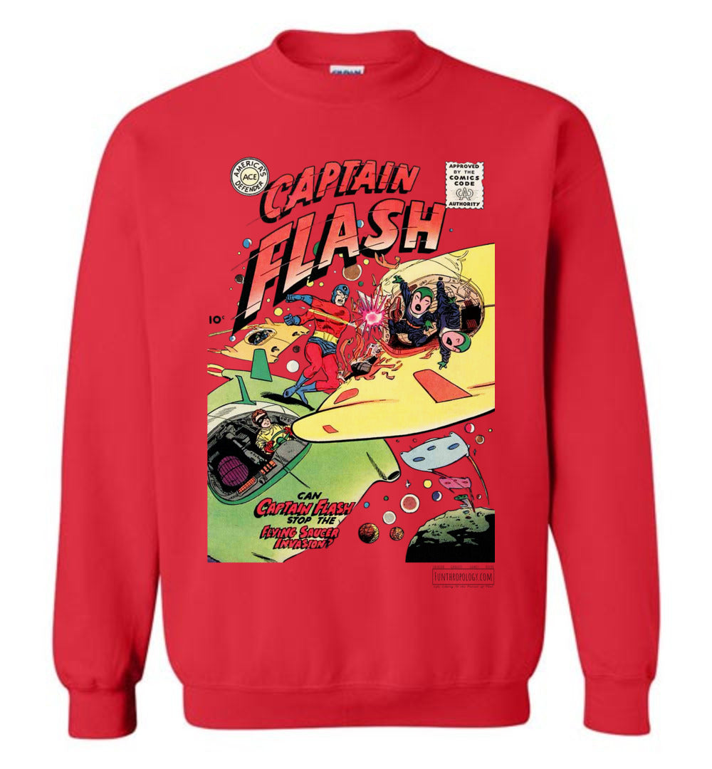 Captain Flash No.4 Sweatshirt (Unisex, Light Colors)