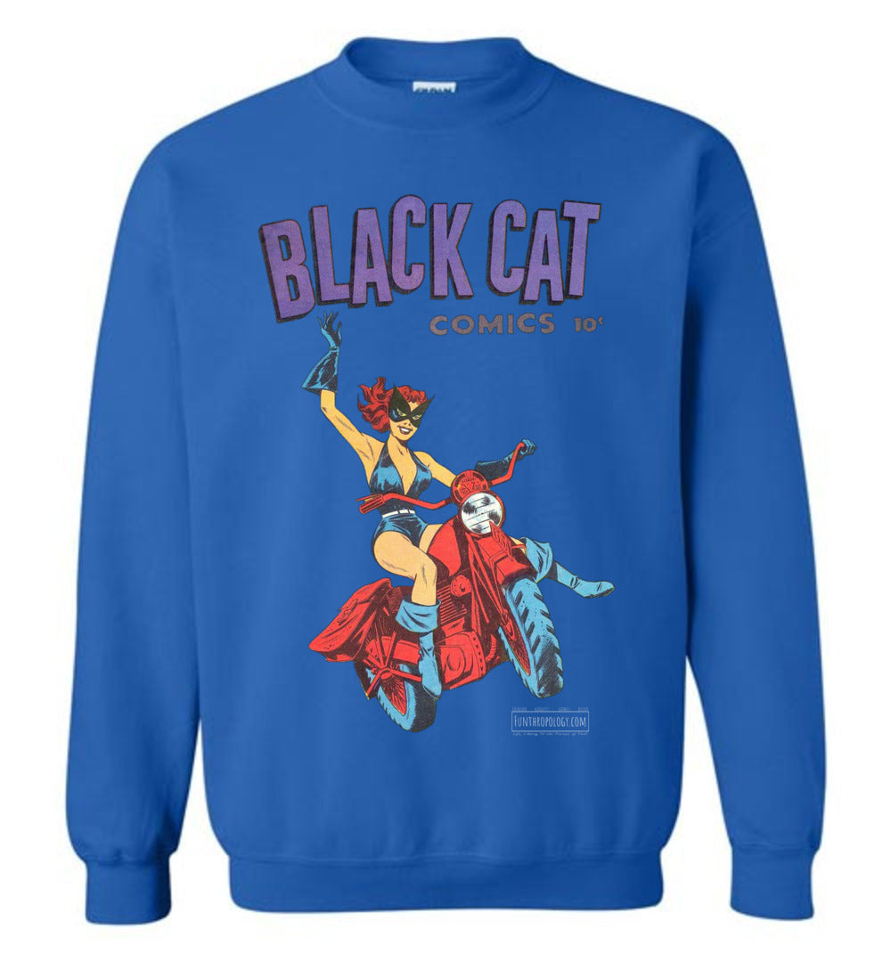 Black Cat No.1 Sweatshirt (Unisex, Dark Colors)
