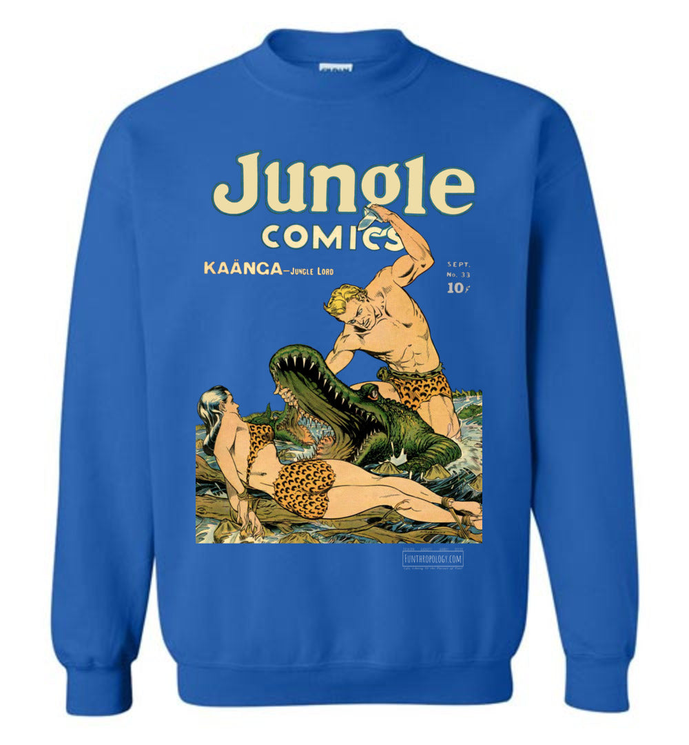 Jungle Comics No.33 Sweatshirt (Unisex, Dark Colors)