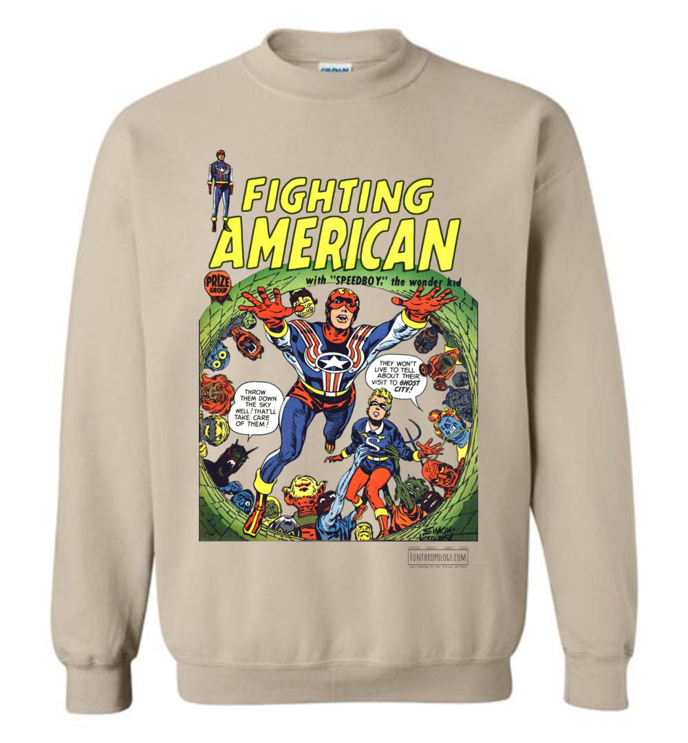 Fighting American No.2 Sweatshirt (Unisex, Light Colors)