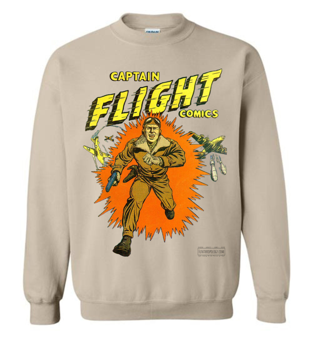 Captain Flight No.2 Sweatshirt (Unisex, Light Colors)