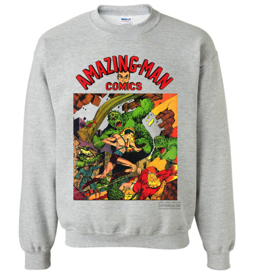 Amazing-Man Comics No.22 Sweatshirt (Unisex, Light Colors)