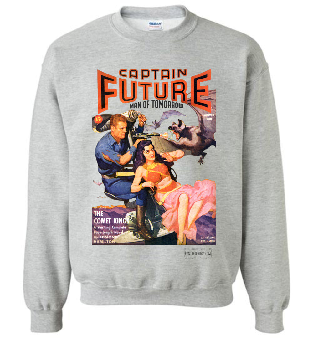 Captain Future No.11 Sweatshirt (Unisex, Light Colors)