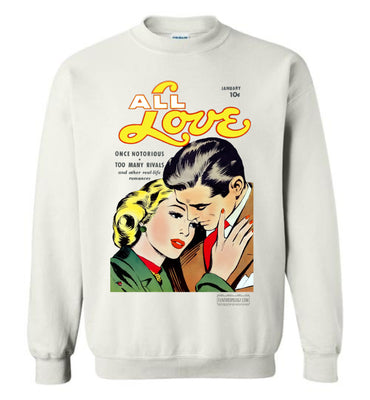 All Love No.30 Sweatshirt (Unisex Plus, Light Colors)