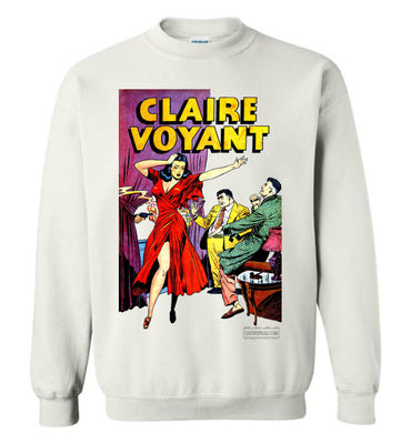 Claire Voyant No.2 Sweatshirt (Unisex Plus, Light Colors)