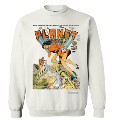 Planet Comics No.15 Sweatshirt (Unisex Plus, Light Colors)