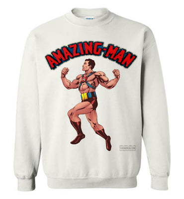 Amazing-Man Reimagined Sweatshirt (Unisex Plus, Light Colors)