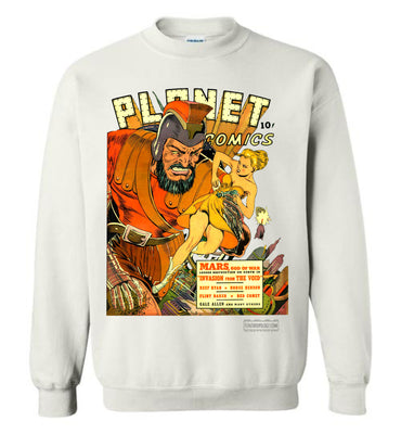 Planet Comics No.16 Sweatshirt (Unisex Plus, Light Colors)