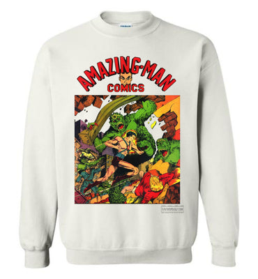Amazing-Man Comics No.22 Sweatshirt (Unisex Plus, Light Colors)