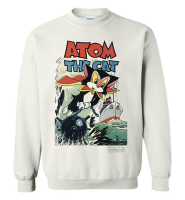 Atom The Cat No.10 Sweatshirt (Unisex Plus, Light Colors)
