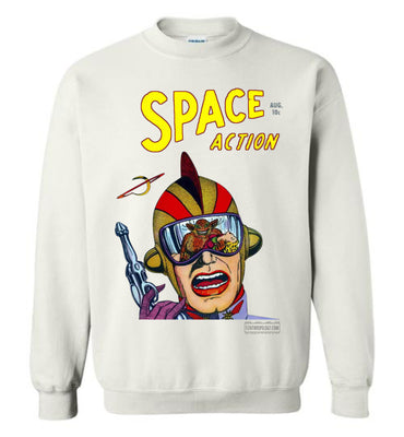Space Action No.2 Sweatshirt (Unisex Plus, Light Colors)