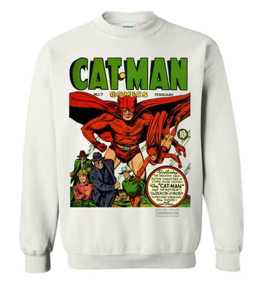 Cat-Man No.7 Sweatshirt (Unisex, Light Colors)