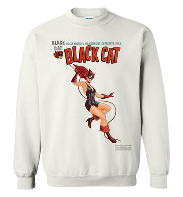 Black Cat Reimagined Sweatshirt (Unisex Plus, Light Colors)