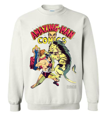 Amazing-Man Comics No.14 Sweatshirt (Unisex Plus, Light Colors)