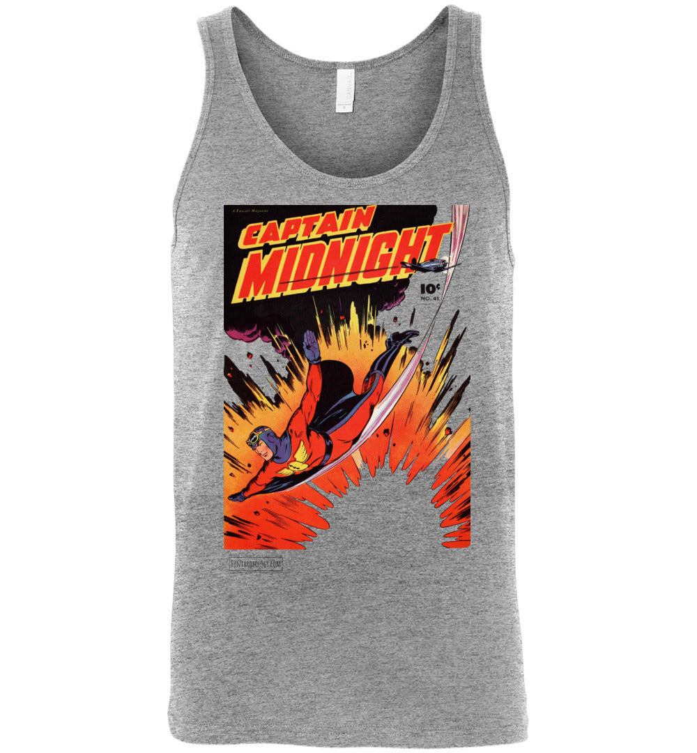 Captain Midnight No.41 Tank Top (Unisex, Light Colors)