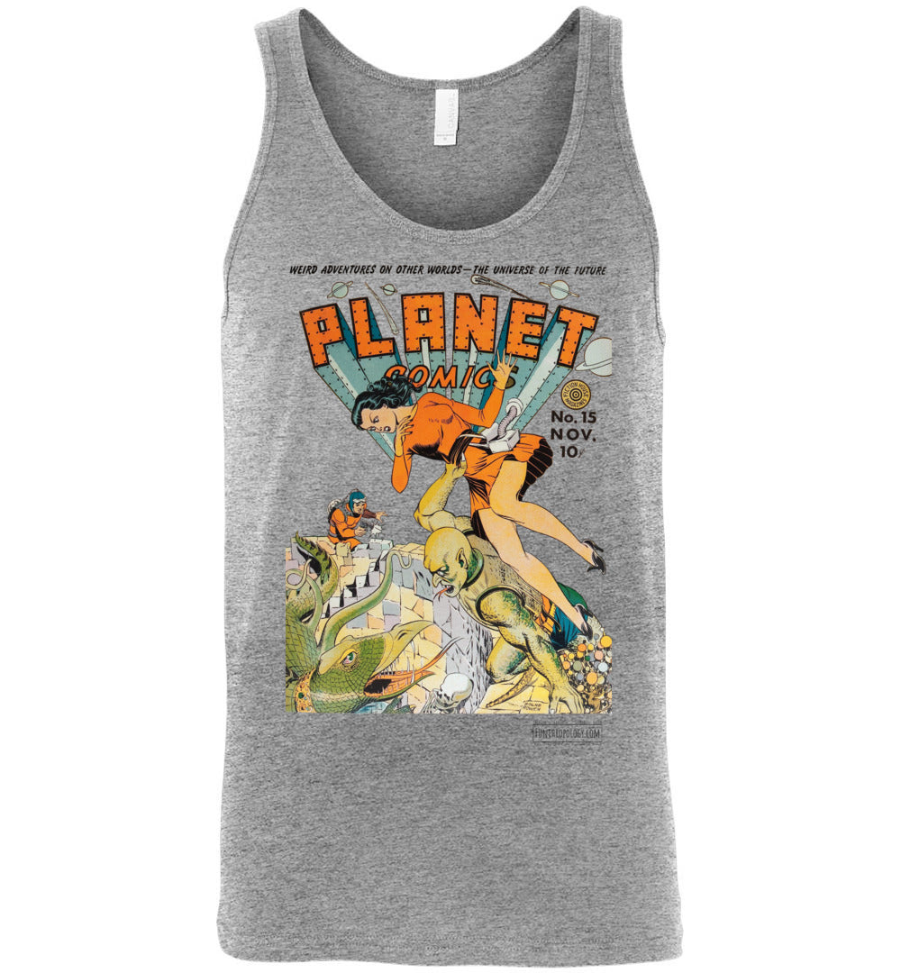 Planet Comics No.15 Tank Top (Unisex, Light Colors)