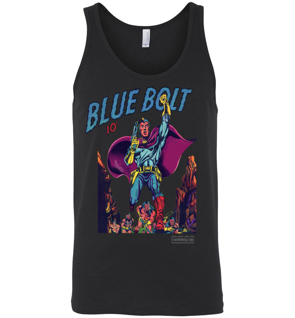Blue Bolt No.3 Tank Top (Unisex, Dark Colors)
