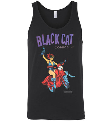 Black Cat No.1 Tank Top (Unisex, Dark Colors)