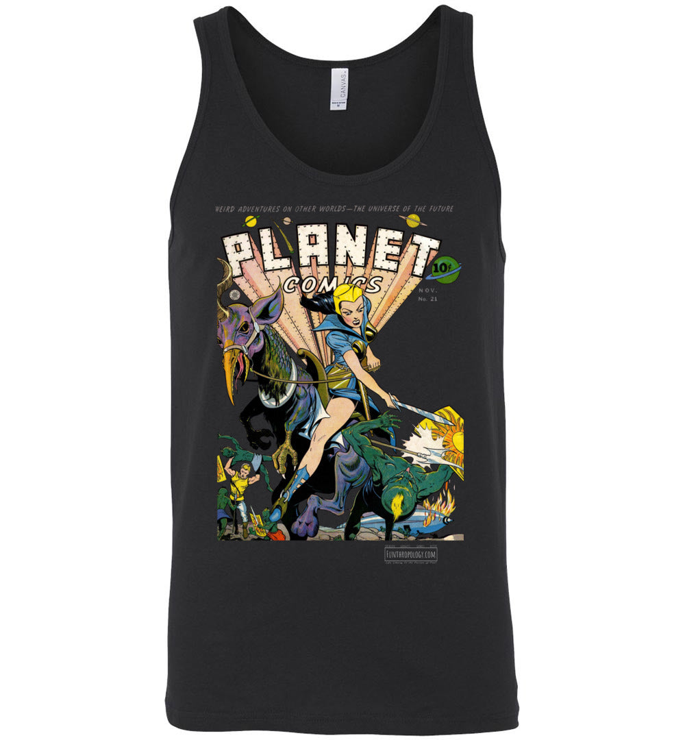 Planet Comics No.21 Tank Top (Unisex, Dark Colors)