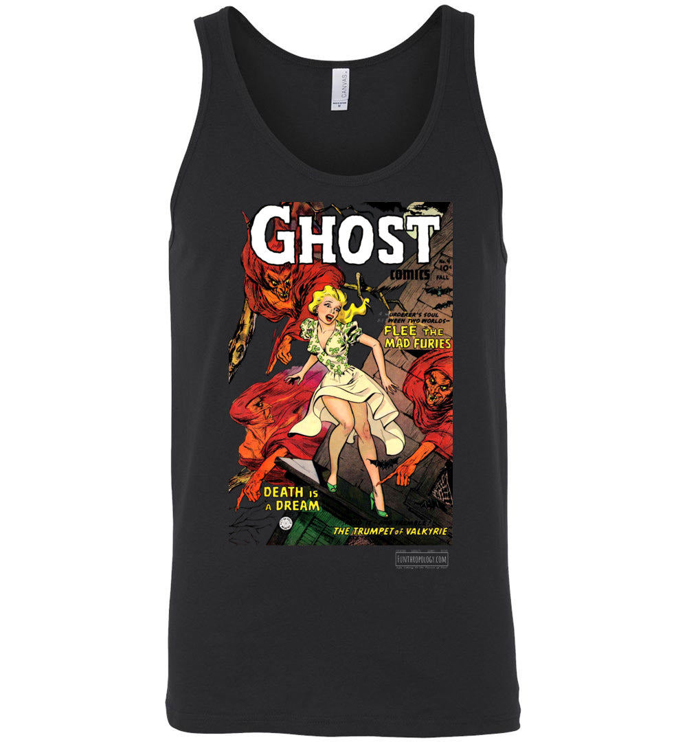 Ghost Comics No.4 Tank Top (Unisex, Dark Colors)