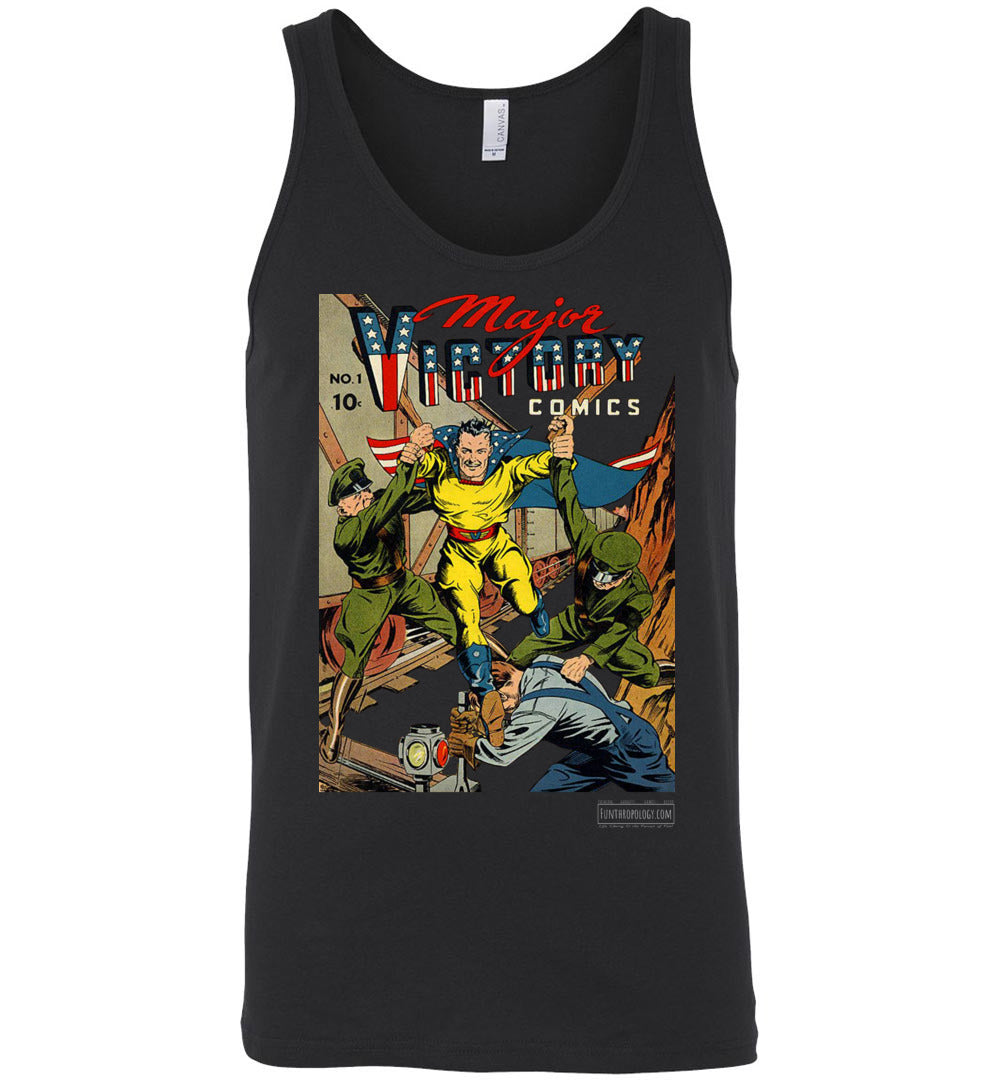 Major Victory Comics No.1 Tank Top (Unisex, Dark Colors)