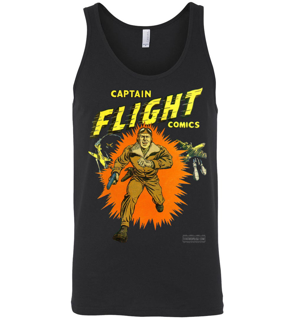 Captain Flight No.2 Tank Top (Unisex, Dark Colors)