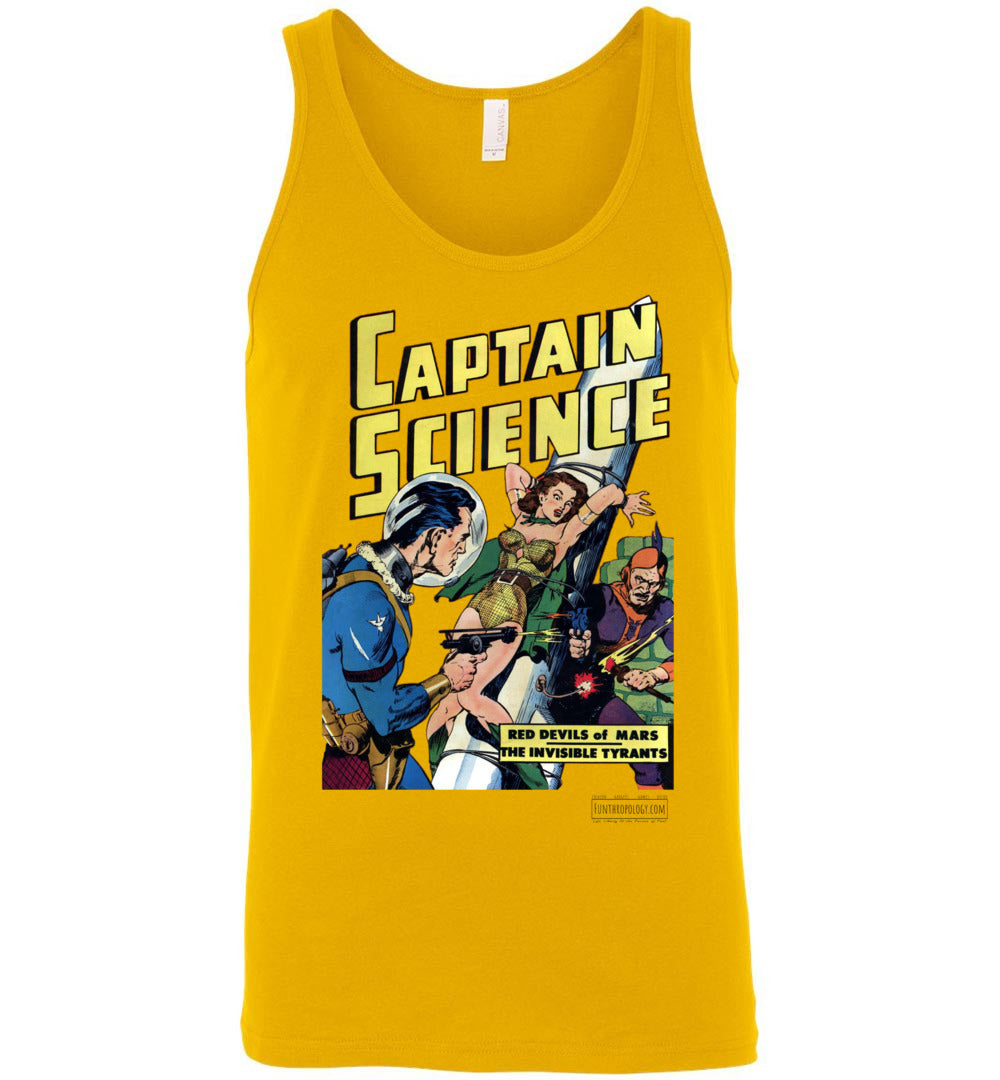 Captain Science No.6 Tank Top (Unisex, Light Colors)