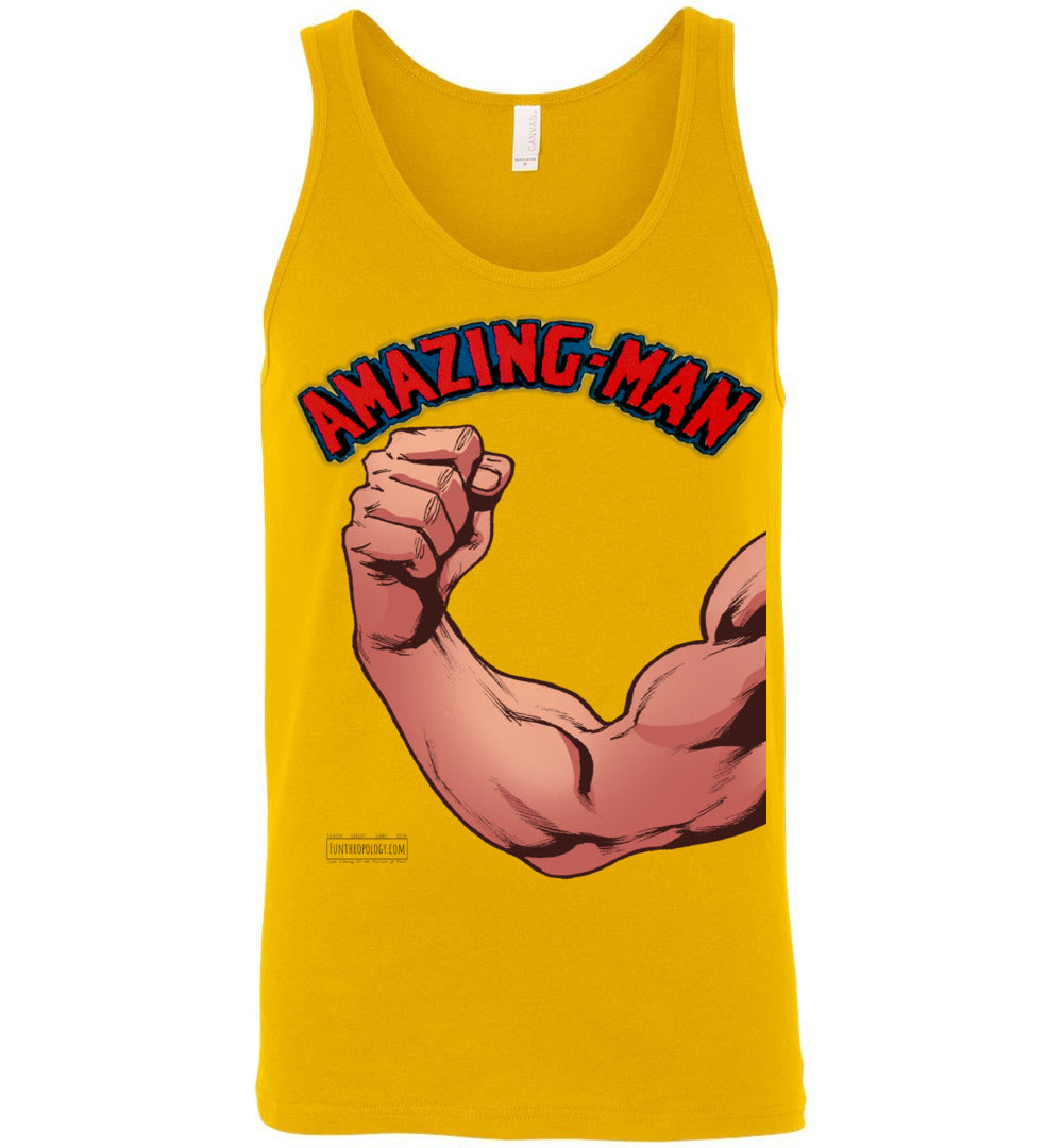 Amazing-Man Strength Tank Top (Unisex, Light Colors)
