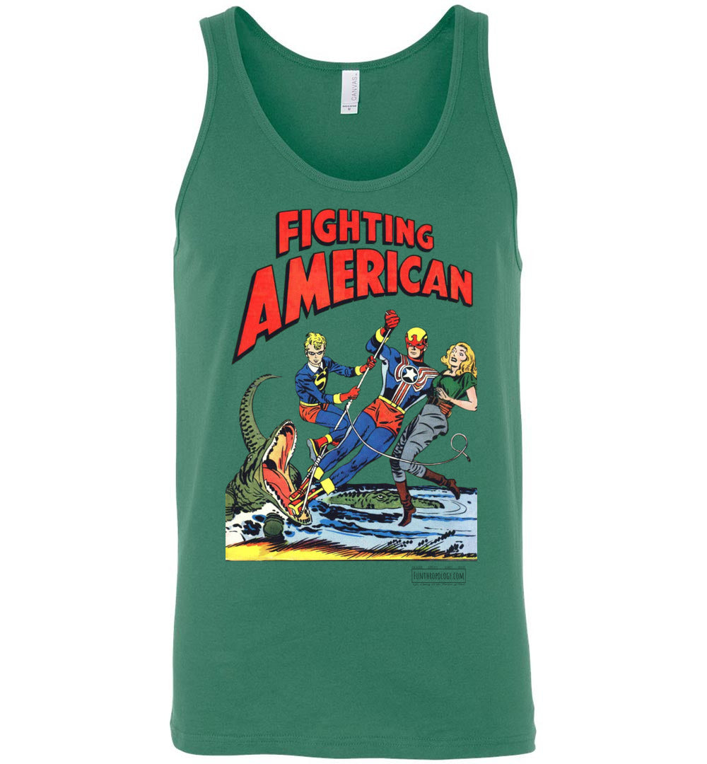 Fighting American No.5 Tank Top (Unisex, Light Colors)